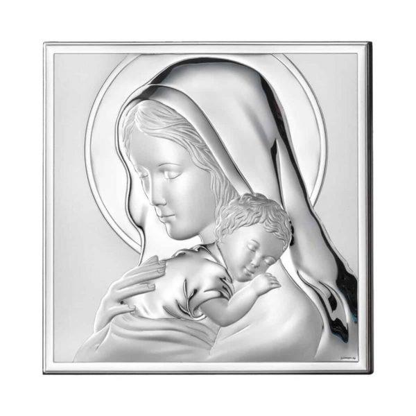 icoana argint 13x18cm maica si pruncul copie 325 6900921132693146 1