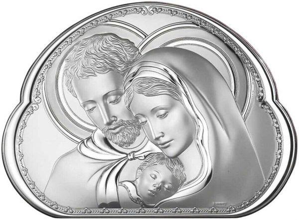 icoana argint 16 2x19 5cm sfanta familie copie 313 6108 1
