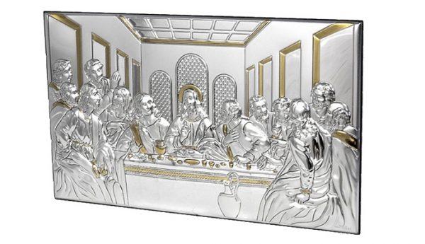 icoana argint 50x24 5 cm cina cea de taina auriu 252 299860 1