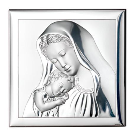 icoana argint 6x6cm maica si pruncul copie 329 12748438 1