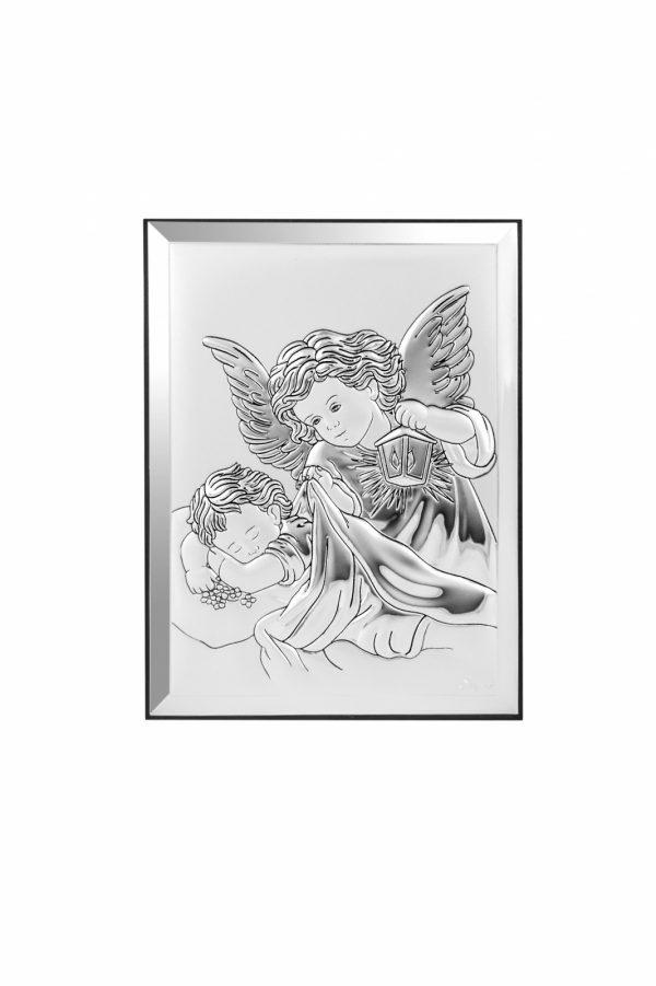 icoana argint 6x9cm ingerul pazitor 212 214691 1