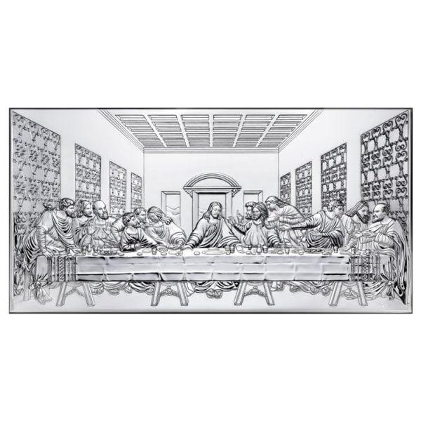 icoana argint cina cea de taina 23x12cm argintiu 754 5956 1