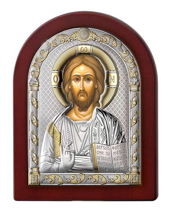 icoana argint iisus hristos 6x8 5cm 112 622432 1