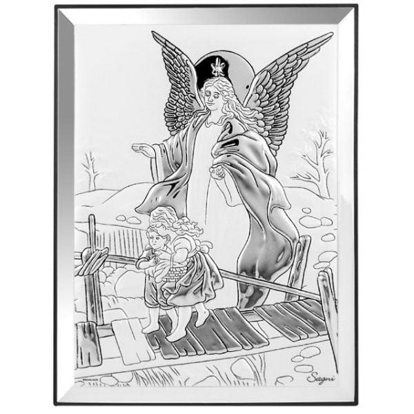 icoana argint ingerul pazitor 13x18cm argintiu 763 4155 1