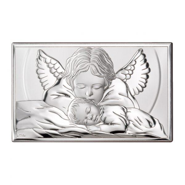 icoana argint ingerul pazitor 15x9 cm copie 491 3299 1