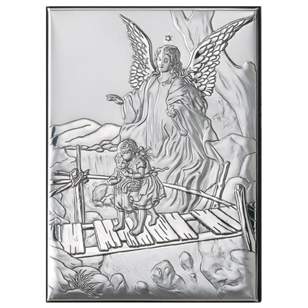 icoana argint ingerul pazitor 18x24cm argintiu 784 5491 1