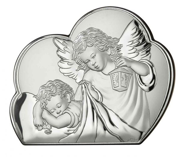 icoana argint ingerul pazitor 19x15 5cm trifoi 175 786231 1