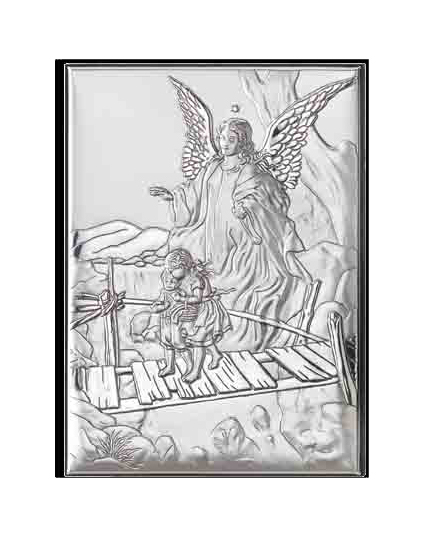 icoana argint ingerul pazitor 5x7 cm 301 335804 1