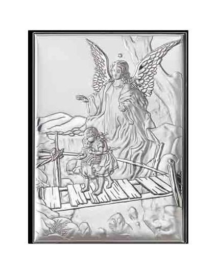 icoana argint ingerul pazitor 6x9 cm 300 743589 1