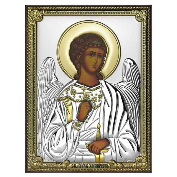 icoana argint ingerul pazitor 8x11cm auriu 776 8666 1