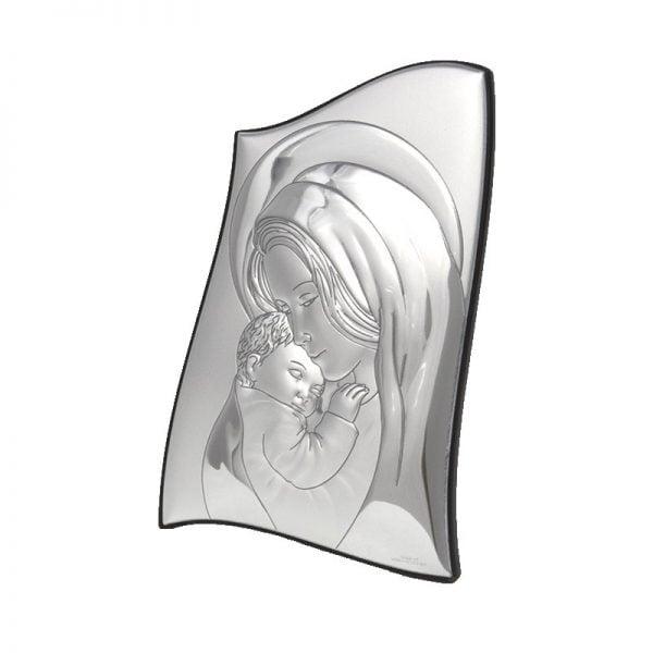 icoana argint maica domnului cu pruncul 6 5x9 5 cm 30 6741 1