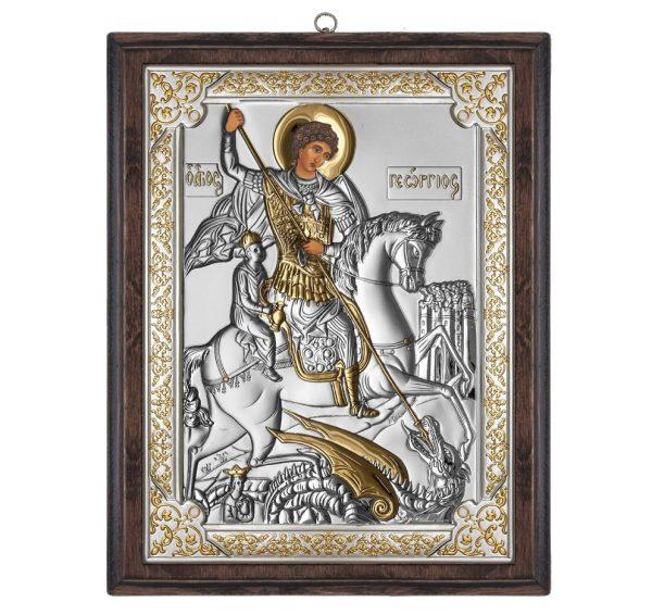 icoana argint sf gheorghe 8x11 cm auriu 426 125149 1