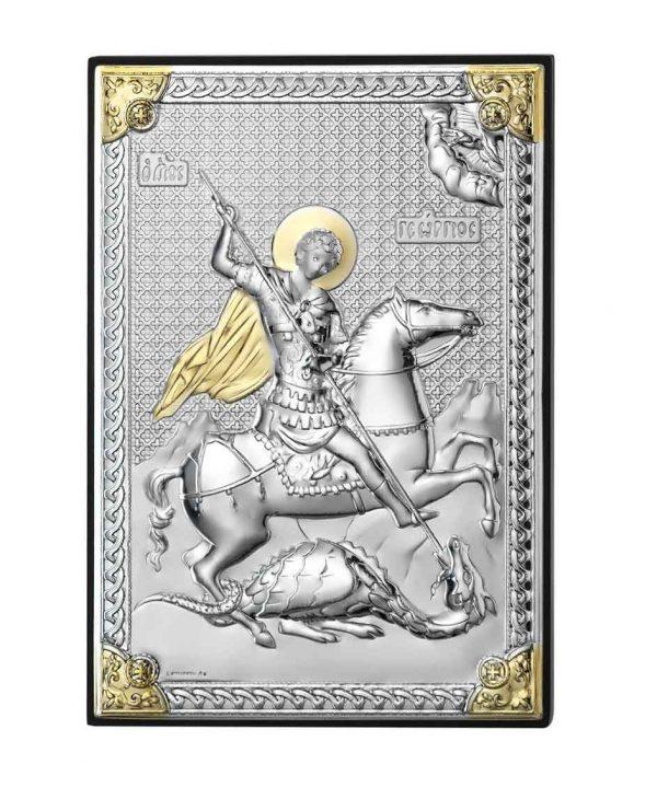 icoana argint sfantul gheorghe biruitorul 9x13cm 192 439977 1