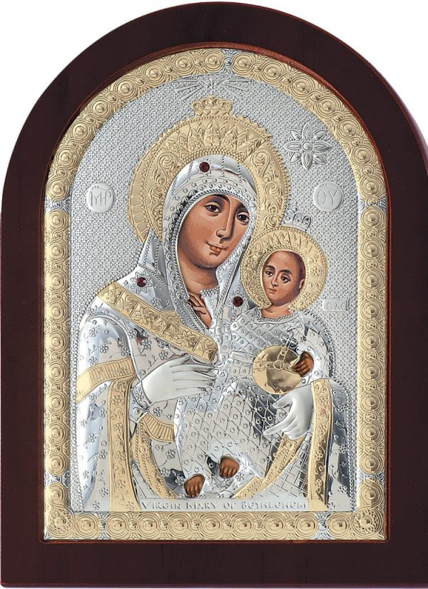icoana argintata maica domnului de la bethleem 7 5 9 5cm 38 397544 1