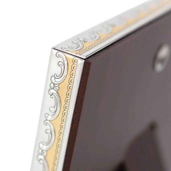 icoana iisus hristos argint cu auriu color 12x15 5cm 53 1098 1