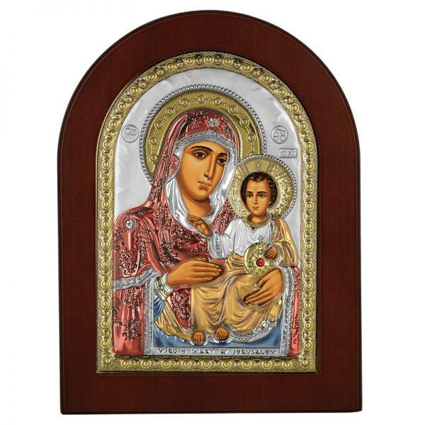 icoana maica domnului de la ierusalim 10x14cm auriu color 558 575432 1