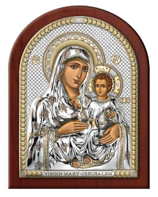 icoana maica domnului de la ierusalim aur 7 5x11cm 26 166877 1