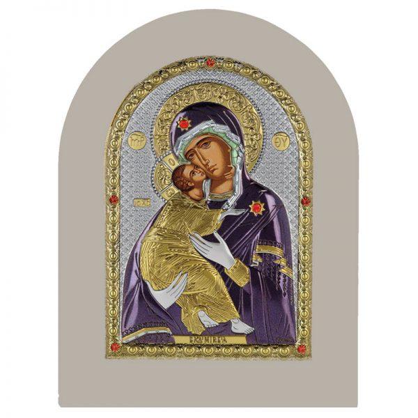 icoana maica domnului vladimir 15x21cm auriu color rama alba 578 512624 1