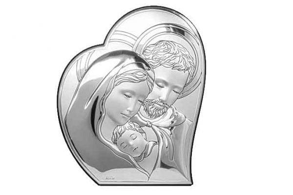 icoana pe foita de argint sfanta familie 8 8x10 7cm 93 1331 1