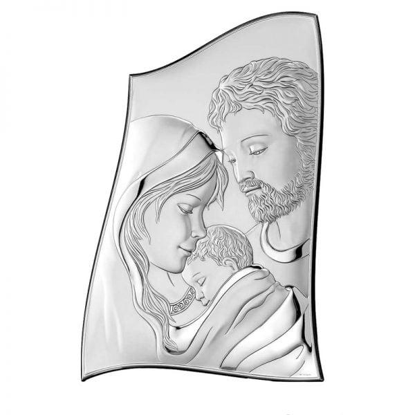 iconita argint sfanta familie 6 5x9 5cm 97 7142 1