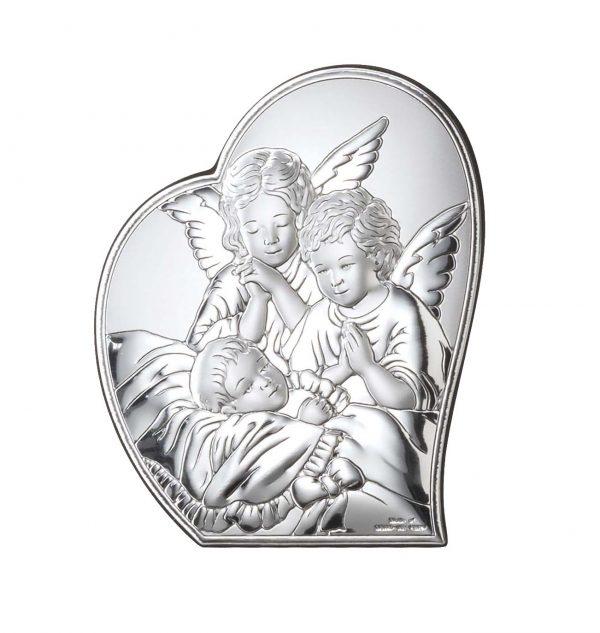 ingerul pazitor 6 7cm icoana argint 248 367995 1
