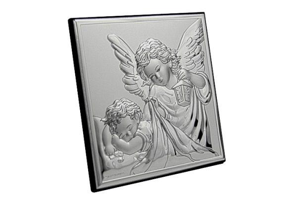 ingerul pazitor 8x8cm icoana argint 249 18082 1