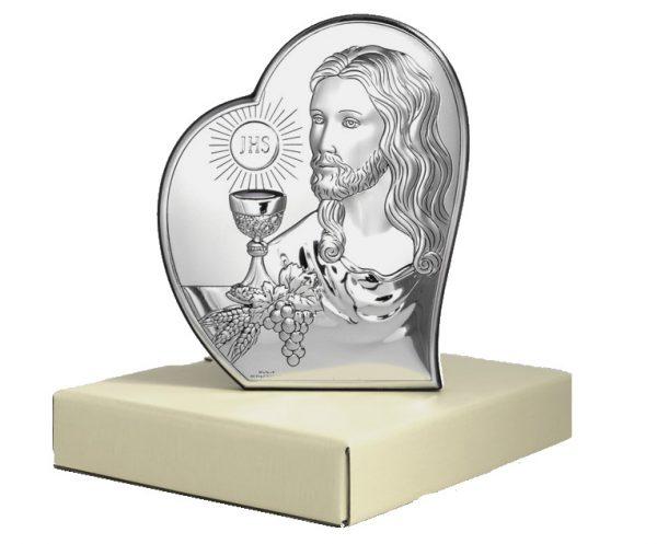 isus comuniune 12x14 5cm icoana argint 318 2455 1