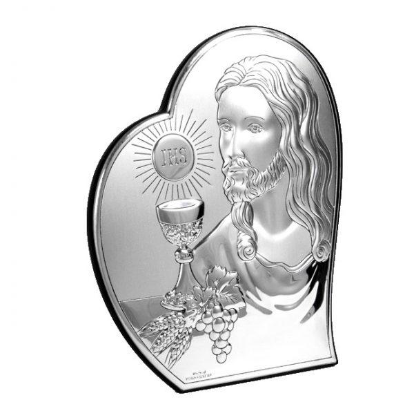 isus comuniune 12x14 5cm icoana argint 318 5538 1