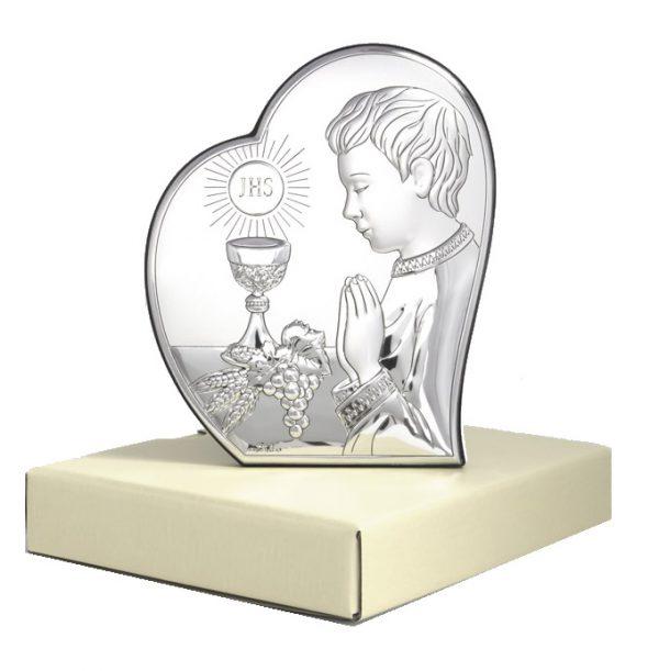 isus comuniune 12x14 5cm icoana argint copie 319 2194 1