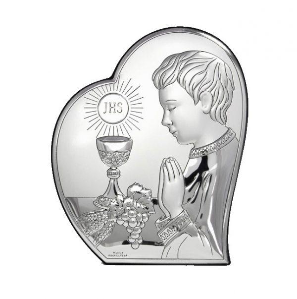 isus comuniune 12x14 5cm icoana argint copie 319 7189 1