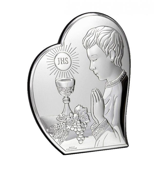isus comuniune 12x14 5cm icoana argint copie 319 9776 1