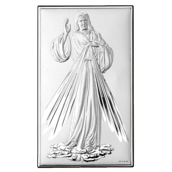 isus milostivirea divina 9x15cm icoana argint 253 5076 1