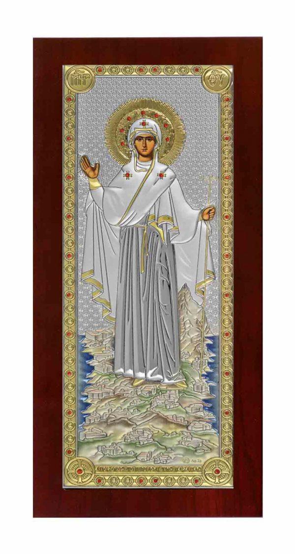 maica domnului de la athos icoana argint 85 160mm 20 51577215 1