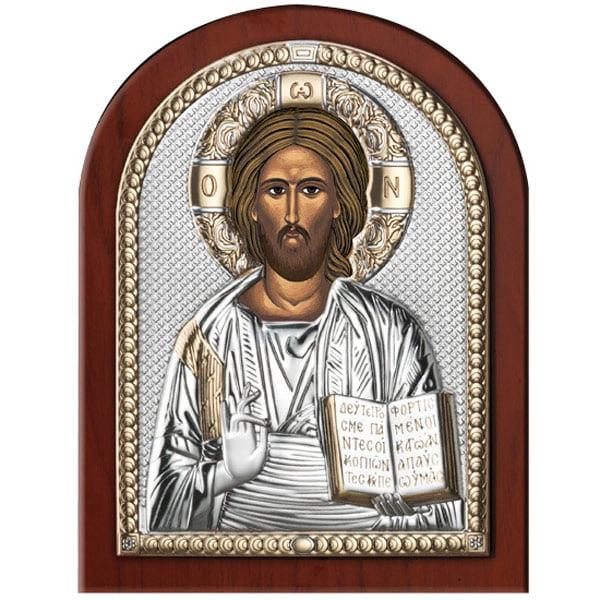 3303 icoana argint iisus hristos 2x20cm auriu