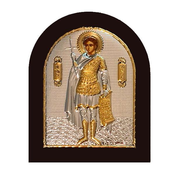 3318 icoana argint sfantul fanurie 2x18cm auriu