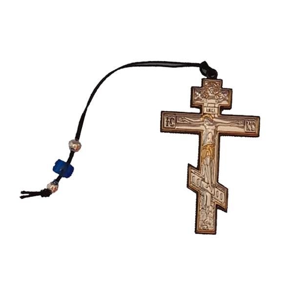 3323 icoana argint crucifix cu snur 2x7.2cm argintiu