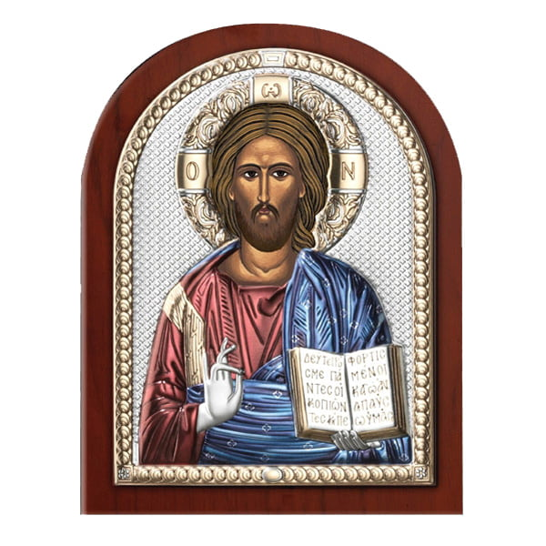 3168 isus hristos 7.5x11cm icoana argint