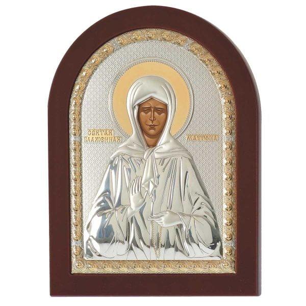 1502 sfanta cuvioasa matrona a moscovei foita de argint 925