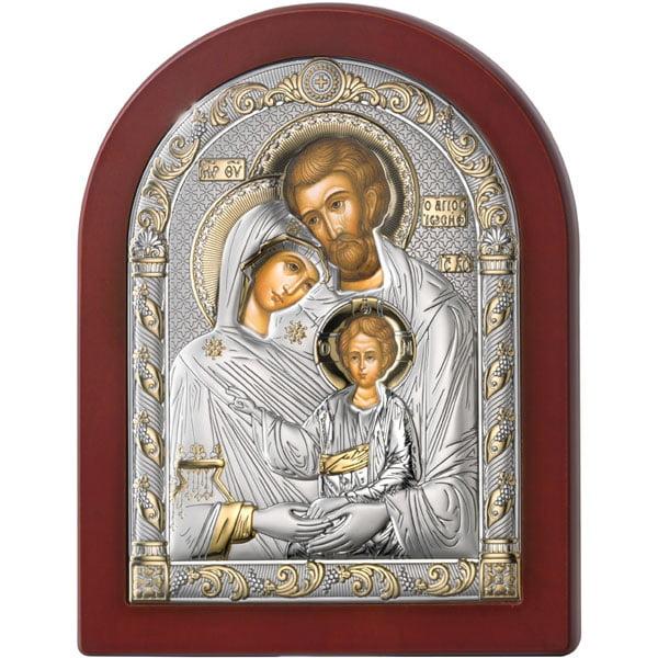 3178 icoana argint familia sfanta 17.5x22.5cm auriu