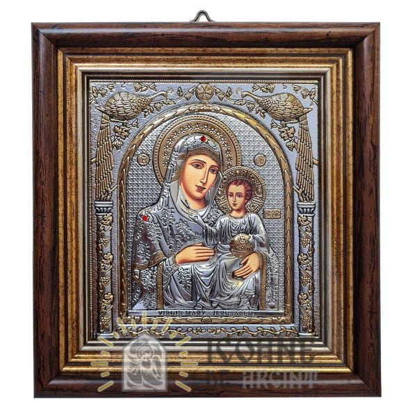 3448 Maica Domnului Ierusalim Geam logo IcoaneDeArgint